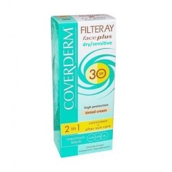 Coverderm Filteray Face Plus 2 in 1 Sunscreen & After Sun Care Dry/Sensitive Skin SPF30 50ml