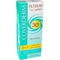 Coverderm Filteray Face Plus 2 in 1 Soft Brown Dry/Sensitive Skin SPF30 50ml